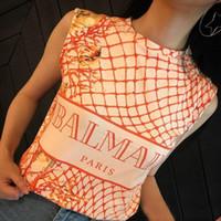 i̇ngiliz geçici toptan satış-BAlMAIN 2019 Toptan Giyim Tasarımcısı İngiliz tarzı Kadın T-Shirt PEMBE Nefes ÜST Tees Paris Casual Workwear