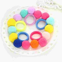 Wholesale towel hair bands for sale - Group buy Children s hair circle tie hair ball ball fluffy girl rubber band headdress towel circle cute ornaments
