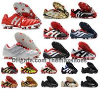 botas de futbol clasicas al por mayor-Hot Classics Predator Acelerador de Electricidad de precisión MANIA FG Beckham DB Zidane ZZ 1998 hombres botas botas de fútbol tacos de fútbol Tamaño 39-45