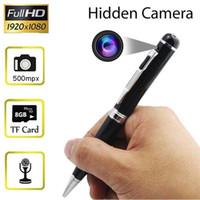 mini versteckte kamera recorder großhandel-Art und Weise neuer HD beweglicher versteckter Kamera-Stift-Videorecorder Mini-DV Kamerarecorder mit Realzeitvideoaufnahmefunktion