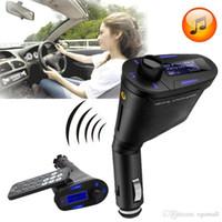 проигрыватель sp4 sd оптовых-Автомобильный MP3-плеер беспроводной FM-передатчик с USB SD MMC слот 1 шт. H157