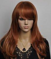 peruca longa loira loira encaracolado venda por atacado-WIG frete grátis brown light blonde mix longo encaracolado completo WIG