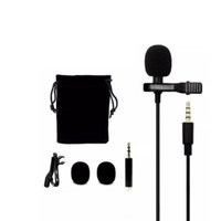 Wholesale microphone for laptop karaoke resale online - Metal Microphone mm Jack Lavalier Tie Clip Microphone Mini Audio Mic for Computer Laptop Phone DHL