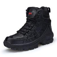 taktische sicherheitsstiefel großhandel-Armee Männer Outdoor Taktische Sicherheit Arbeitsschuhe Herrenschuhe Military Desert Combat Boots Schuhe Taktische Stiefel HH-031