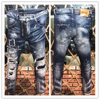 nova moda masculina jeans americanos venda por atacado-2019, jeans wear a nova marca de moda masculina de verão europeu e americano são casuais D9608 Jeans