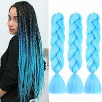 Wholesale Hot DIY jumbo braiding hair crochet braid kanekalon pure color inch showjarlly price Original synthetic hair for braiding