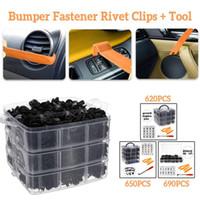 Wholesale trim panel clip tools resale online - 620 Set Auto Mixed Universal Bumper Fastener Rivet Clips Door Trim Panel Kit Expansion Screws Tools