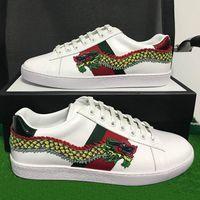 Wholesale original designer shoes resale online - Original Box New Fashion Designer Mens Shoes With Top Quality Women Luxury Designer Sneaker Man Casual Ace Shoes Green Red Stripe Size