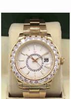 relógios originais para homens venda por atacado-2019 data presidencial: Relógio de moda masculina permanentes ouro 18K com relógio de ouro de aço inoxidável grande diamante originais da correia dos homens automáticos