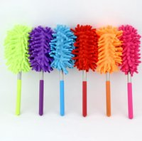 Wholesale microfiber dusters resale online - 10 Color Scalable Microfiber Telescopic Dusters Chenille Cleaning Dust Desktop Household Dusting Brush Cars Cleaning Tool SN2622