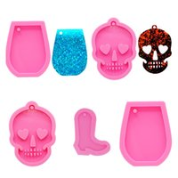 Wholesale silicone molds for cakes resale online - Pink DIY Cake Baking Tool Silicone Bakeware Molds For Kids Wine Cup Keychain Shape Sugar Cake Decoration MMA3022