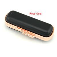 barra de labios de gama alta al por mayor-Caja de barra de labios de alta calidad monedero boca Caja de sello de barra de labios de sección caliente en oro rosa 10CM