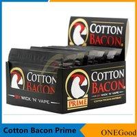 ingrosso rendere vape-COTONE BACON 2.0 Prime Gold Version Made in China Puro cotone organico Wick n fibra di vape per fai da te atomizzatori RDA RTA DHL