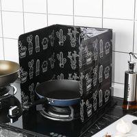 verschiedene küchen großhandel-Unterschiedlicher Kaktus Druckentwurf Aluminiumfolie-Öl-Block-Ölsperren-Ofen-Koch Anti-Splashing-Öl-Schallwand-Wärmedämmung-Küchen-Utensilien