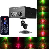 mini lazer sahne aydınlatma modelleri toptan satış-120 Desenler RGB Mini Lazer Projektör Işık DJ Disko Parti Müzik Lazer Sahne Aydınlatma LED Mavi Noel Işıkları Ile Etkisi