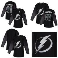 7e863de25 2019 New Tampa Bay Lightning Black Alternate Jersey 21 Brayden Point 86  Nikita Kucherov 91 Steven Stamkos 00 Blank size S-3XL