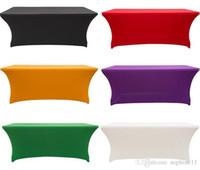 ingrosso lycra elastico-Tovaglia elastica rettangolare in lycra con copertura rettangolare per tavolo da matrimonio o decorazione per eventi in hotel