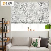 cortinas persianas tons latinos venda por atacado-Pintura abstrata moderna romanos Persianas personalizadas romanos máscaras de janela cortinas para sala de estar