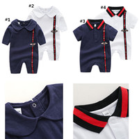 Wholesale newborn baby clothes free shipping for sale - Group buy new baby girls boys clothes cute Cartoon baby romper high quality cotton one piece Jumpsuit newborn baby girl clothes Free ship AA1972