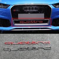 Wholesale car bonnet stickers resale online - Audi A4 A5 A7 A8 RS5 RS6 RS7 RSQ3 Q3 Q5 Q8 ABS plastic Grill Grille Hood Bonnet Quattro Letter Emblem Car Styling Accessory