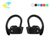 kostenlose ohrhörer bluetooth kopfhörer großhandel-Bluetooth headset bluetooth 5.0 kopfhörer freisprecheinrichtung ohrbügel kopfhörer mini drahtlose kopfhörer ohrhörer für iphone xiaomi