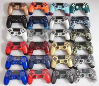 Wholesale ps4 resale online - Dualshock Wireless Bluetooth Controller for PS4 Vibration Joystick Gamepad Game Controllers With Retail Box LOGO Top Quality