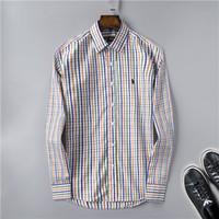 iş gösterisi toptan satış-Yeni 2019 ABD Lüks POLO Marka Tasarımcısı erkek Casual Gömlek 001 Moda Yaz Uzun Kollu Podyum iş Elbise Gömlek Laple tees gösterir