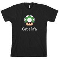 ingrosso video di vita-Get A Life Mushroom - Mens T-Shirt Pixel Gaming Video 10 colori