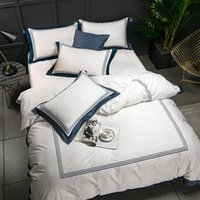 Wholesale black egyptian cotton bedding resale online - 5 star Hotel White Luxury Egyptian Cotton Bedding Sets Full Queen King Size Duvet Cover Bed Flat Sheet Fitted Sheet set Pil