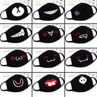 yetişkinler için siyah yarı maskeler toptan satış-Parti Anime Sevimli Ayı Maskesi Yetişkin Çocuklar Eğlenceli Fantezi Elbise Alt Yarım Yüz Ağız Muffle Maske Kullanımlık Toz Sıcak Rüzgar Geçirmez Pamuk Maskesi siyah beyaz