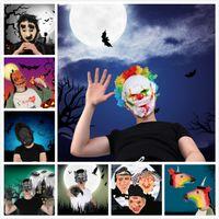 смешные маски лица оптовых-24 стили смешные страшные ужасы Маска партия Хэллоуин Новый Год День дурака латексная маска косплей костюм анфас маски женщина мужчина