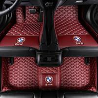 ingrosso pavimento bmw-Per tappetini Fit FloorLiner per BMW X5 2008-2018 PU Tappeto per auto impermeabile impermeabile All-Weather