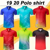 новые мужские рубашки поло оптовых-19 20 Новая мода с коротким рукавом рубашки поло Мужские футбольные майки Низкая цена продажи Polo camiseta de fútbol