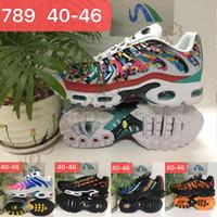 zapatillas de leopardo al por mayor-TN Plus 2019 Hombres Zapatos deportivos de diseño Rainbow Camo Red Leopard Gradient Sunset Zapatillas de deporte para hombre Airs de moda Zapatos casuales para correr Tamaño us 12