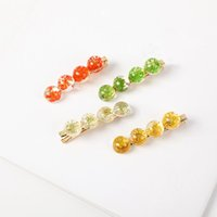 Wholesale fresh resin beads for sale - Group buy 2019 Fresh Resin Flower Hairpin Headwear Simple Hair Clip Duckbill Clip Side Accessories Crystal Bead Flower Hair