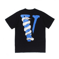 Wholesale logo for sale - Group buy Vlone White Snake Mens T Shirt Vlone Designer T Shirt Big V Logo High Quality Hip Hop Men Women Short Sleeve