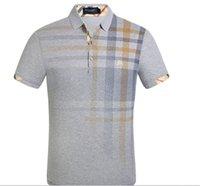 polo short à carreaux achat en gros de-Casual manches courtes nouveau revers t-shirt hommes de vente chaud G2Y mode burburry hommes portent polo shirt sweatshirts de marque à manches courtes