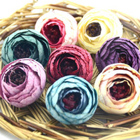 Wholesale flower tea gift for sale - Group buy New Design CM Silk Artificial Tea Rose Bud Flowers Head for Wedding Decoration Wreath Gift Box Scrapbooking Craft Fake Flowers
