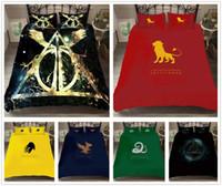 quilts tröster sets großhandel-3D Harry Potter Bettwäsche Set Bettbezug Kopfkissenbezug Bettbezug Trösterdecke