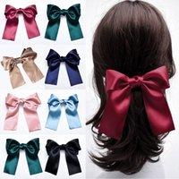 Wholesale celtic hair accessories for sale - Group buy Korean Fashion Version Of The Big Streamer Bow Hairpin Versatile Lady Hair Accessories Satin Trendy Casual Long Ribbon Hair Clip