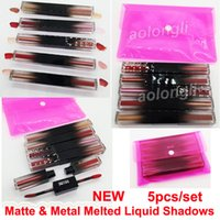Wholesale liquid shimmer eyeshadow for sale - Group buy New Beauty Matte Metal Melted Liquid Shadows Makeup eyeshadow Double head liquid eye shadow highlighter