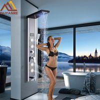 Wholesale model jet resale online - Shower Faucet LED Rainfall Waterfall Shower Head Model Mist Handshower Massage SPA Jets Single Handle Mixer Tap Faucet