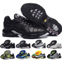 zapatos de deporte casual transpirable al por mayor-Nike TN air max TN airmax TN Descuento para Classic Tn Women Zapatillas de deporte Negro Rojo Blanco Entrenador deportivo Mujer Superficie Respirable Zapatos casuales
