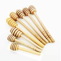 tarros cucharas al por mayor-8 cm / 10 cm / 10.4 cm de largo Mini Cuchara de madera Cuchara de miel Agitador de palo Cuchara Cuchara Cuchara de miel Cuchara