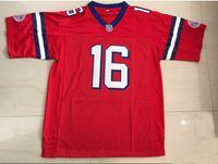 películas xxl al por mayor-Mens The Replacements # 16 Shane Falco Keanu Reeves Cosió la película Washington Sentinels Camisetas de fútbol Número de nombre de doble puntada