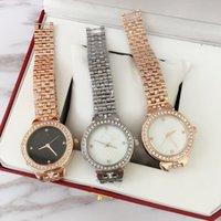 top-gold-kette design großhandel-2019 mode top design sexy frauen armbanduhr hochwertige mit diamant rose gold stahl armband kette edelstahl dame weibliche armbanduhr