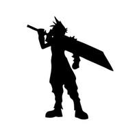 final fantasy jogos venda por atacado-Caráter Nuvem Final Fantasy Game Vinyl Etiqueta Do Carro Decorativo Decal Acessórios