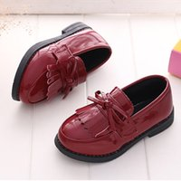 Wholesale black shoes for school for sale - Group buy Girls Leather Shoes New Kids Shoes Soft Sole Girls Flats Fashion Princess Formal School For Black Dress