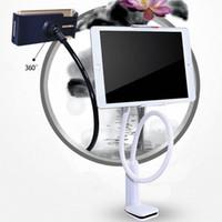 Wholesale stands flexible arm online – Car Phone Holder Mobile Phone Lazy Stand Long Arm Flexible Table Holder Bed Mount Clip Bracket Adjustable Desk Stent