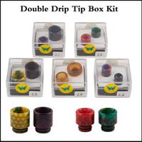 ingrosso doppia punta di gocciolamento-Drip Tip Kit Box 510 810 Drip Tip in resina Cobra Ultem Drip tip per TFV8 Baby TFV12 Prince ego aio Aleader bocchini